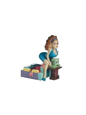 Пепельница Кассирша Elff Ceramics. Цвет: синий, зеленый, фиолетовый, желтый