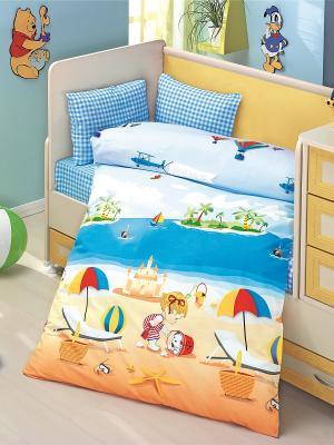 Комплект постельного белья ALTINBASAK. Цвет: голубой