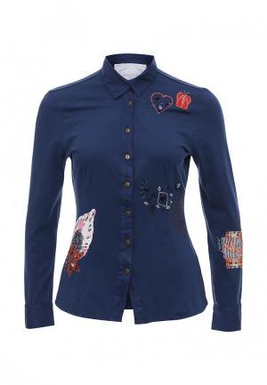Рубашка Camomilla. Цвет: синий