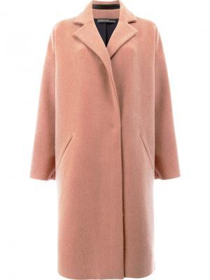 Свободное пальто 32 Paradis Sprung Frères. Цвет: розовый и фиолетовый