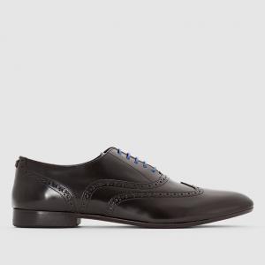 Ботинки-оксфорды из кожи с контрастными шнурками - PIVERTI AZZARO. Цвет: черный