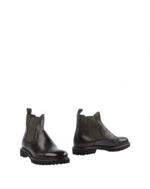Полусапоги и высокие ботинки MARIO LUISO. Цвет: темно-коричневый