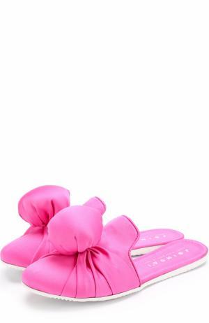 Текстильные сабо Diva Hustler с декоративной отделкой Joshua Sanders. Цвет: розовый