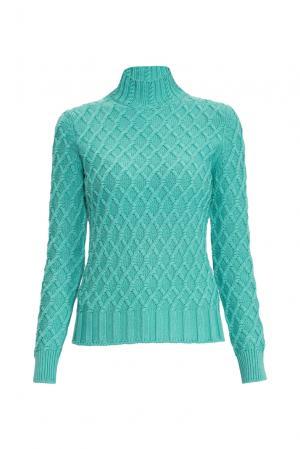 Джемпер из шелка с кашемиром 136702 Sweet Sweaters. Цвет: зеленый