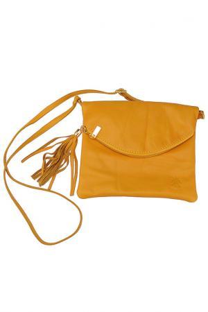 Сумка FLORENCE BAGS. Цвет: желтый