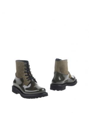 Полусапоги и высокие ботинки MÈNGHI. Цвет: зеленый-милитари