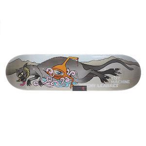Дека для скейтборда  Su5 Leabres Fat Sect 32.5 x 8.25 (21 см) Toy Machine. Цвет: мультиколор,серый