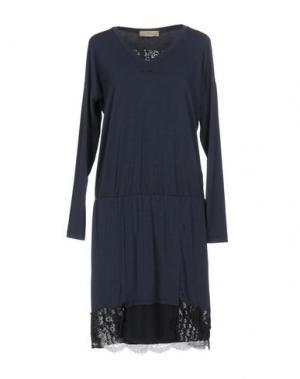 Платье до колена JUST FOR YOU. Цвет: темно-синий