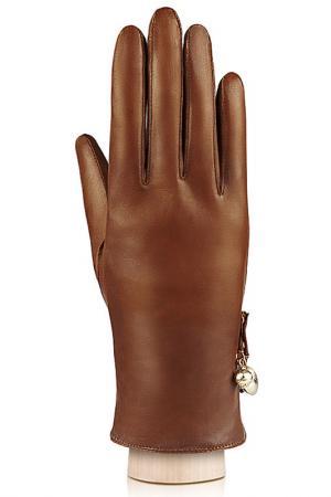 Перчатки Labbra. Цвет: коньячный