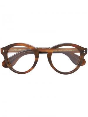 Очки Keppe Moscot. Цвет: коричневый