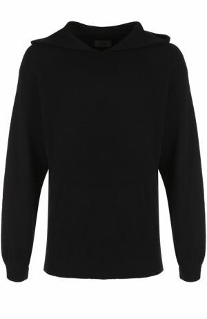Кашемировое худи свободного кроя RTA. Цвет: черный