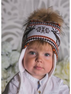 Шапка LFC. Цвет: коричневый, белый, оранжевый