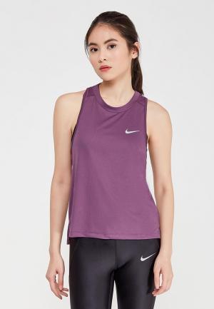 Майка спортивная Nike. Цвет: фиолетовый