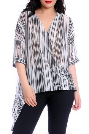 Блуза Emma Monti. Цвет: black, white