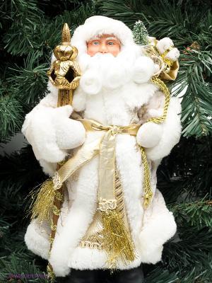 Дед Мороз в золотом костюме Magic Time. Цвет: белый, золотистый