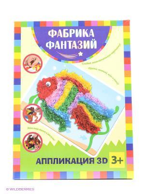 Аппликация 3D Золотая рыбка Лавка Чудес. Цвет: зеленый, розовый, желтый, фиолетовый, синий
