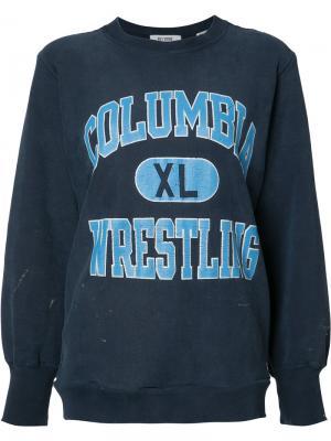 Oversized printed sweatshirt Re/Done. Цвет: синий