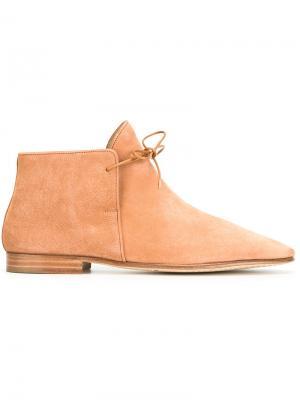 Ботинки на шнуровке Nehera. Цвет: коричневый