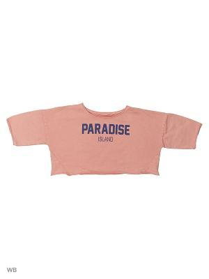 Топ - PARADISE Mango kids. Цвет: бледно-розовый
