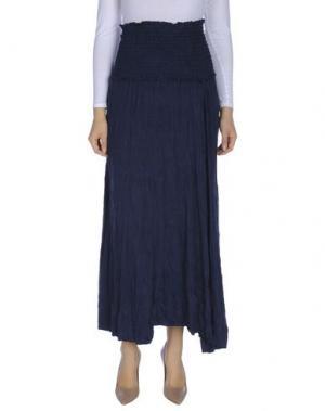 Длинная юбка OBLIQUE CREATIONS. Цвет: темно-синий