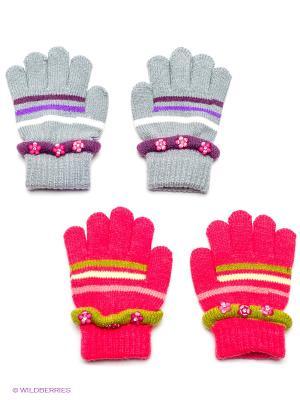 Перчатки, 2 пары FOMAS. Цвет: светло-серый, красный