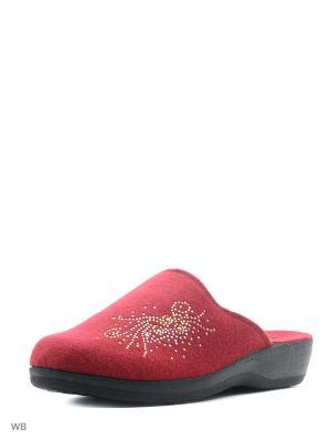 Тапочки AKINALBELLA. Цвет: бордовый