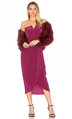 Платье миди glamour night Yumi Kim. Цвет: красное вино