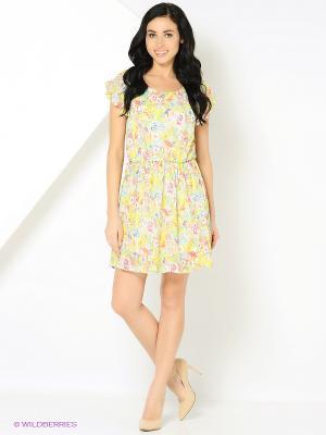 Платье с цветами персиковое MONOROOM