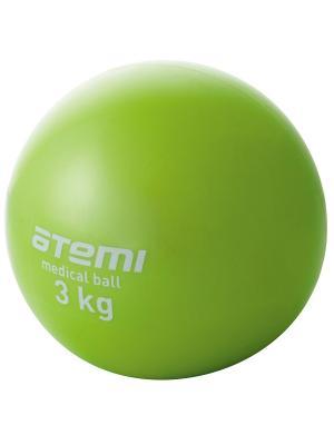 Медицинбол 3 кг Atemi. Цвет: зеленый