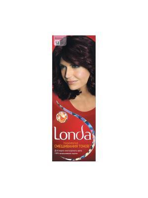 Крем-краска для волос стойкая 53 Махагони LONDA. Цвет: красный