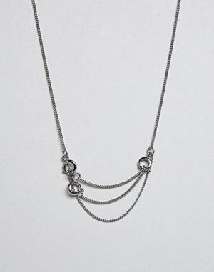 Cheap Monday Ожерелье. Цвет: серебряный