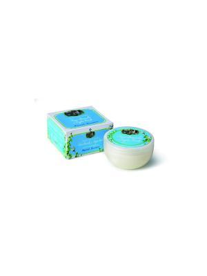 Крем для тела Белые цветы и зеленые листья(унисекс) DERBE. Цвет: голубой