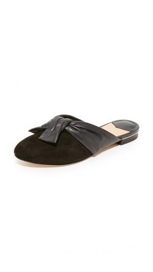 Туфли без задников Doha с узлом Diane von Furstenberg. Цвет: голубой