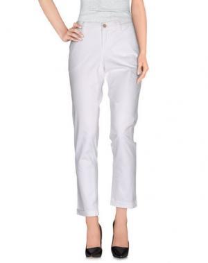 Повседневные брюки RE-HASH. Цвет: белый