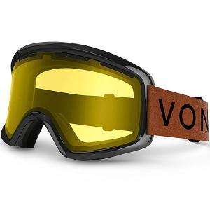 Маска для сноуборда  Beefy Burnt Orange/Yellow Von Zipper. Цвет: черный