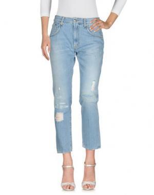 Джинсовые брюки PEOPLE. Цвет: синий