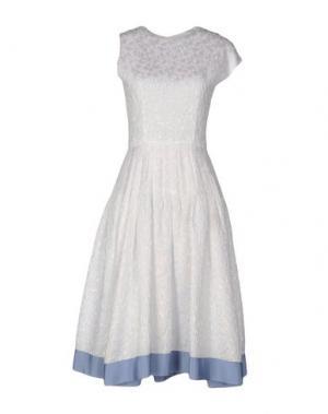 Платье до колена JOURDEN. Цвет: белый