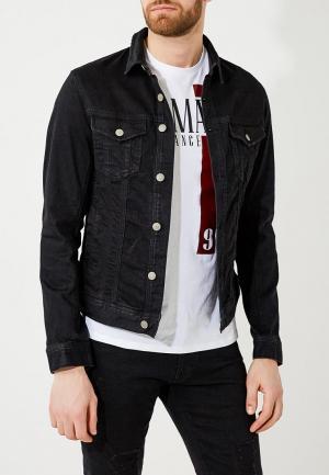 Куртка джинсовая Armani Exchange. Цвет: черный