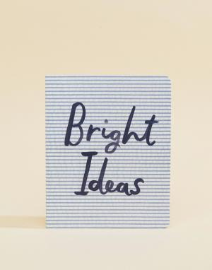 Kate Spade Блокнот с надписью Bright Ideas. Цвет: мульти