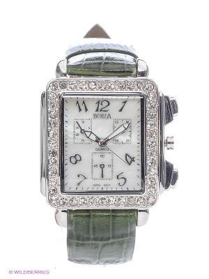 Часы Bora. Цвет: белый, зеленый