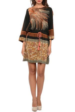 Платье SEVENTY. Цвет: коричневый