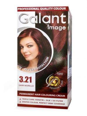 Cтойкая крем-краска для волос  GALANT 3.21 черная вишня 115мл.,(Болгария) Image. Цвет: темно-бордовый