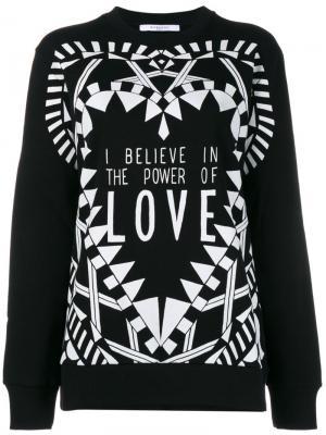 Толстовка I Believe In  Power Of Love Givenchy. Цвет: чёрный