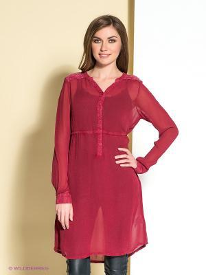 Платье Cream. Цвет: бордовый