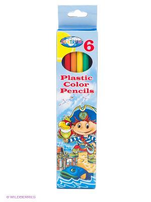 Цветные карандаши Пират, 6 цветов, длинные Centrum. Цвет: голубой