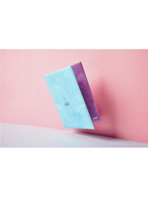 New W wallet. Цвет: голубой
