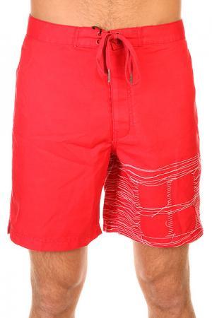 Шорты пляжные  Logo Red Insight. Цвет: красный