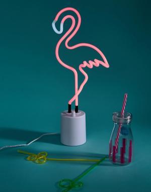 Sunnylife Большой неоновый светильник в виде фламинго. Цвет: мульти