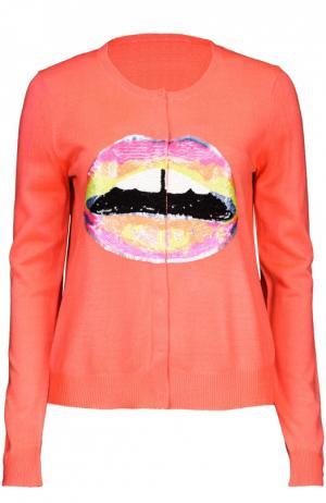 Вязаный свитер Markus Lupfer. Цвет: оранжевый