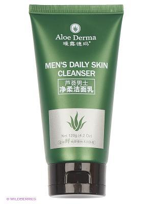 Гедь очищающий для мужчин на каждый день Aloe Derma. Цвет: прозрачный